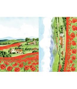 """Рисовая бумага для декупажа Calambour """"Маковое поле"""", 35х50 см"""
