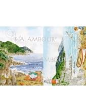 """Рисовая бумага для декупажа Calambour """"Морской пейзаж"""", 35х50 см"""