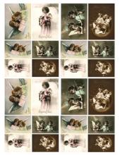 "Декупажная карта Calambour DGE 10 ""Фото, ангелочки"", 35х50 см"