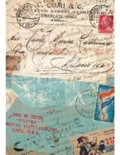 Рисовая бумага для декупажа Calambour DGR 124 Письма и штампы, 33х48 см