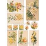 Рисовая бумага для декупажа Calambour DGR 153, Желтые чайные розы, 33х48 см