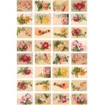 Рисовая бумага для декупажа Calambour DGR 154, Чайные роза ассорти, мини, 33х48 см