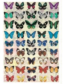 Рисовая бумага для декупажа Calambour DGR 171 Бабочки, 33х48 см