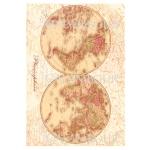 Рисовая бумага для декупажа Calambour DGR 184, Географическая карта мира, 33х48 см