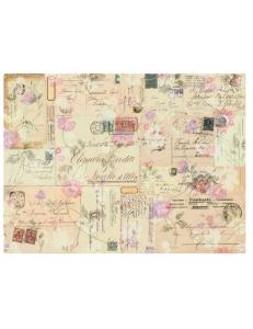 """Декупажная карта Calambour DGE 20 """"Почтовые открытки и цветы"""", 35х50 см"""