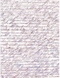 Рисовая бумага для декупажа Calambour DGR 022, Сиреневое письмо, 33х48 см