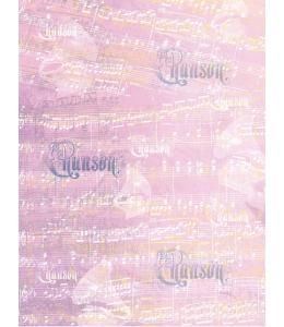Рисовая бумага для декупажа Calambour DGR 023, Ноты, шансон, 33х48 см