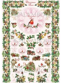 Рисовая бумага для декупажа Calambour DGR 268 Время Рождества, 33х48 см