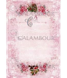 """Рисовая бумага для декупажа Calambour DGR 270 """"Рождественский гимн"""", 35х50 см"""