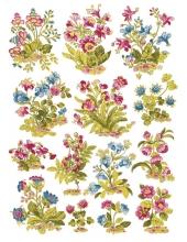 Рисовая бумага для декупажа Calambour DGR 033 Сказочные цветы, 33х48 см