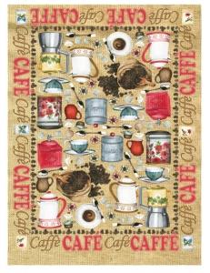 Рисовая бумага для декупажа Calambour DGR 043, Кофейные приборы, 33х48 см