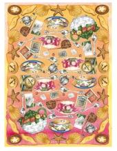 Рисовая бумага для декупажа Calambour DGR 044, Чаепитие, 33х48 см