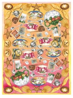Рисовая бумага для декупажа Calambour DGR044, Чаепитие, 33х48 см