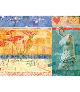 """Декупажная карта Calambour DGE 53 """"Венера и цветы"""", 35х50 см"""