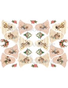 Рисовая бумага для декупажа Calambour DGR 068 Винтажные ангелы, 33х48 см