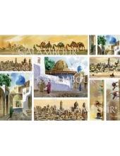 Рисовая бумага для декупажа Calambour DGR 074 Азиатский город, верблюды, 33х48 см