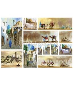 Рисовая бумага для декупажа Calambour DGR 075 Азия, верблюды, 33х48 см