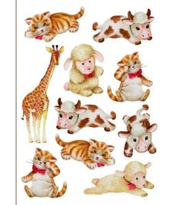 Рисовая бумага для декупажа Calambour DGR 079 Плюшевые игрушки, 33х48 см
