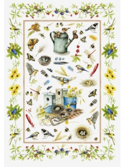 Рисовая бумага для декупажа Calambour DGR090 Садовая жизнь, акварель, 33х48 см