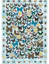 "Декупажная карта Calambour EASY 058 ""Бабочки на голубом фоне"", 50х70 см"