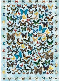 Декупажная карта Calambour EASY 058 Бабочки на голубом фоне, 50х70 см