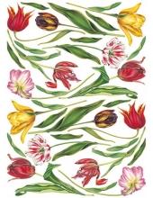 "Декупажная карта Calambour EASY 109 ""Тюльпаны разноцветные"", 50х70 см"