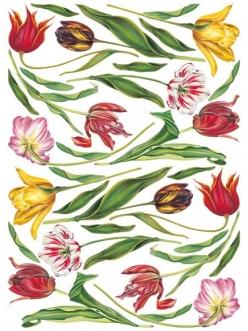 Декупажная карта Calambour EASY 109 Тюльпаны разноцветные, 50х70 см