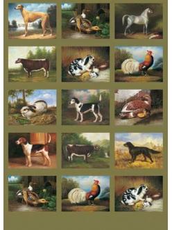 Декупажная карта Calambour EASY 142 Античные животные, 50х70 см
