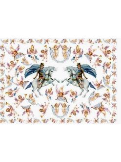Декупажная карта Calambour EASY 169 Георгий и ангелы, 50х70 см