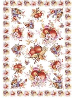 Декупажная карта Calambour EASY 209 Композиции из цветов, орехов и фруктов , 50х70 см