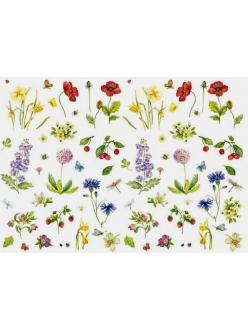 Декупажная карта Calambour EASY 232 Полевые цветы, 50х70 см2