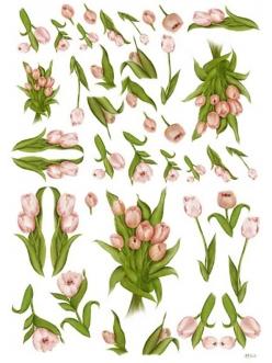 Декупажная карта Calambour EASY 257 Тюльпаны, 50х70 см