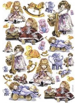 Декупажная карта Calambour EASY 270 Куклы и игрушки, 50х70 см