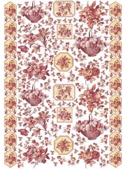 Декупажная карта Коричневые розы, 50х70 см