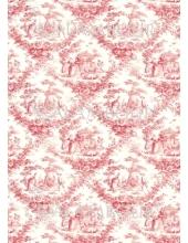 Рисовая бумага для декупажа Calambour EXCR 06, Розовая пастораль, 35х50 см