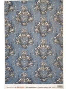 Рисовая бумага для декупажа Calambour EXCR 09, Ангелы на синем, 35х50 см