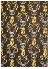 Рисовая бумага для декупажа Calambour EXCR 08, Золотые ангелы на черном, 35х50 см