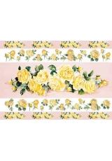 Рисовая бумага для декупажа Calambour EXCR 261, Полосы из желтых роз, 35х50 см