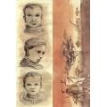 "Рисовая бумага для декупажа Calambour MSK 8 ""Саванна, портреты"", 35х50 см, 20 г/ м2"