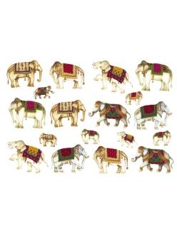 Рисовая бумага для декупажа Calambour Pau-006 Индийские слоны, 35х50 см