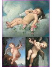 """Рисовая бумага для декупажа Calambour Pau-017 """"Ангелы, классический рисунок"""", 35х50 см"""