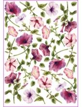 """Рисовая бумага для декупажа Calambour Pau-022 """"Вьюнок розовый"""", 35х50 см"""