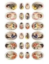 """Рисовая бумага для декупажа Calambour Pau-025 """"Женские портреты"""", 35х50 см"""