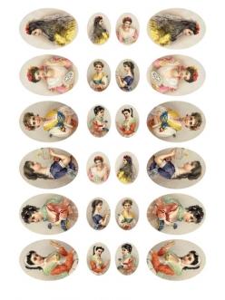Рисовая бумага для декупажа  Женские портреты, 35х50 см, Calambour Pau-025
