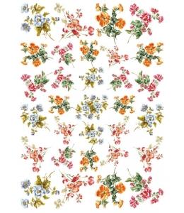 """Рисовая бумага для декупажа Calambour Pau-033 """"Цветочки,17 век"""", 35х50 см"""