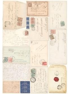 Рисовая бумага для декупажа Calambour Pau 035 Старые конверты, 35х50 см