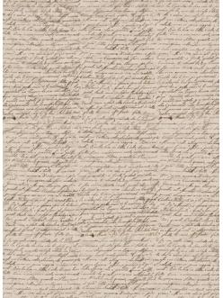 Рисовая бумага для декупажа Calambour Pau-036 Старое письмо, 35х50 см