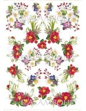 """Рисовая бумага для декупажа Calambour Pau-040 """"Весение цветы"""", 35х50 см"""
