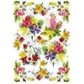 """Рисовая бумага для декупажа Calambour Pau-055 """"Весенние цветы"""", 35х50 см"""