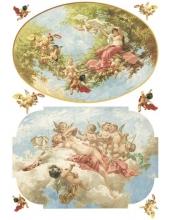 """Рисовая бумага для декупажа Calambour Pau-058 """"Ангелы и девы"""", 35х50 см"""